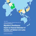 Migration & Remittances: Impact on Financial Behaviour of Families Left Behind in Sri Lanka