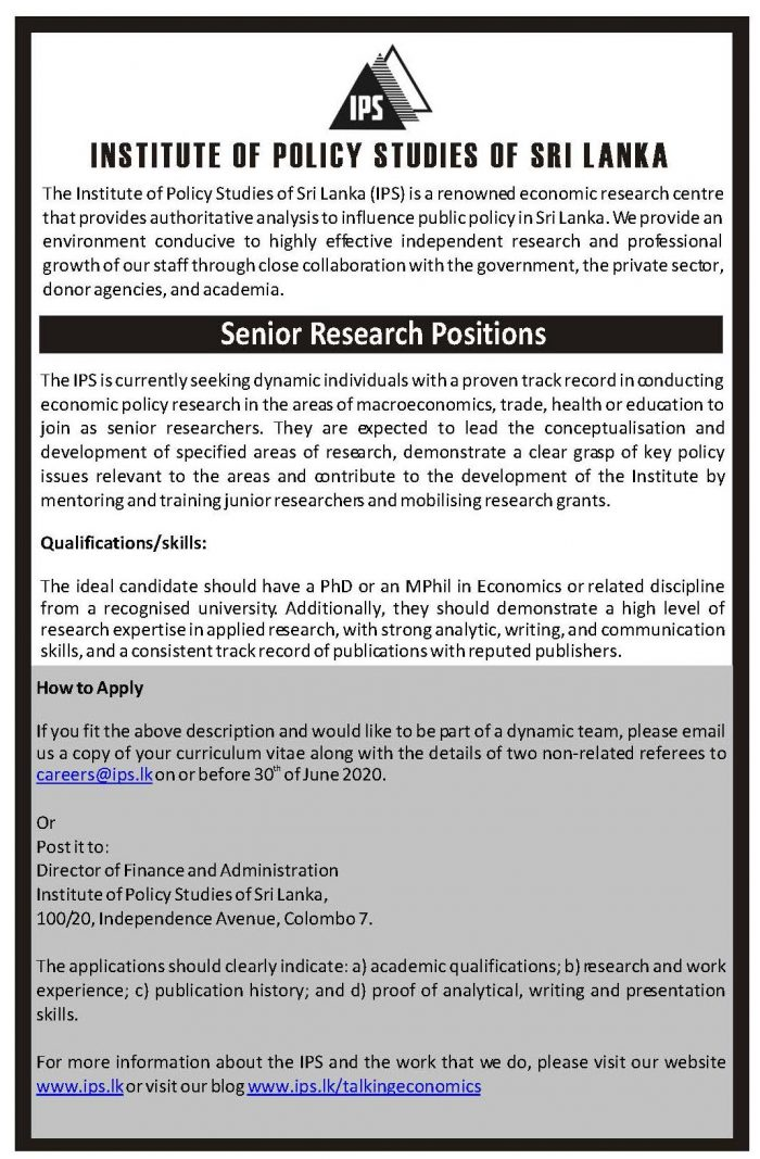 Senior Research Positions