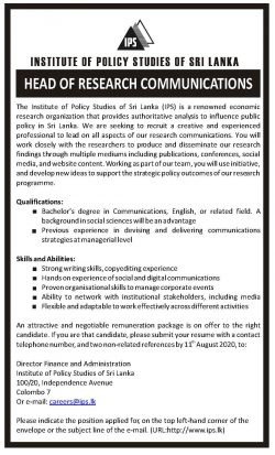Head of Research Communications Vacancy_IPS
