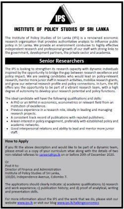 Senior Researcher position